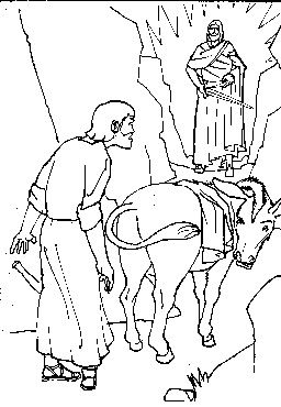 Balaams Donkey Colouring Pages Page 2 Bible Activities