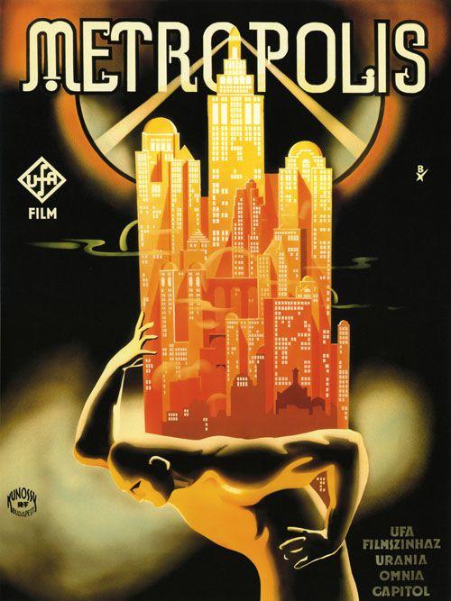 METROPOLIS - German Vintage Film Poster