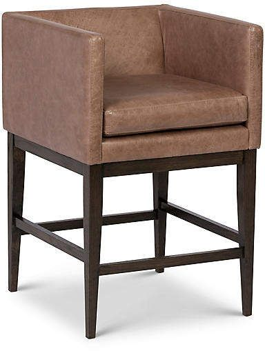 One Kings Lane Finch Barstool Pebble Leather