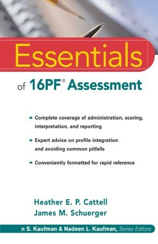 Essentials of 16PF Assessment (Essentials of Psychological