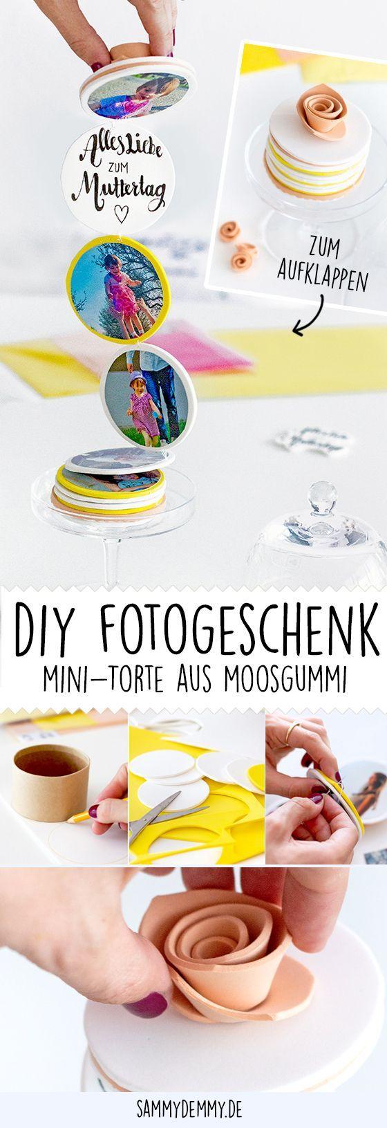 Tischdeko und Fotogeschenk zum Muttertag #fotogeschenk