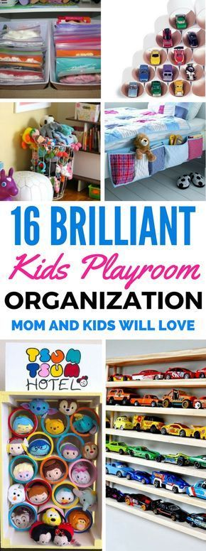 16 Kids Playroom Organization Ideas For Boys And Girls - Do you find yourself keep stepping on your kid's toys and also struggling to get your kids room organized? Worry not because these DIY Projects for home decor will definitely organize your home in a quick, cheap and easy way! Easy Storage Ideas For The Bedroom