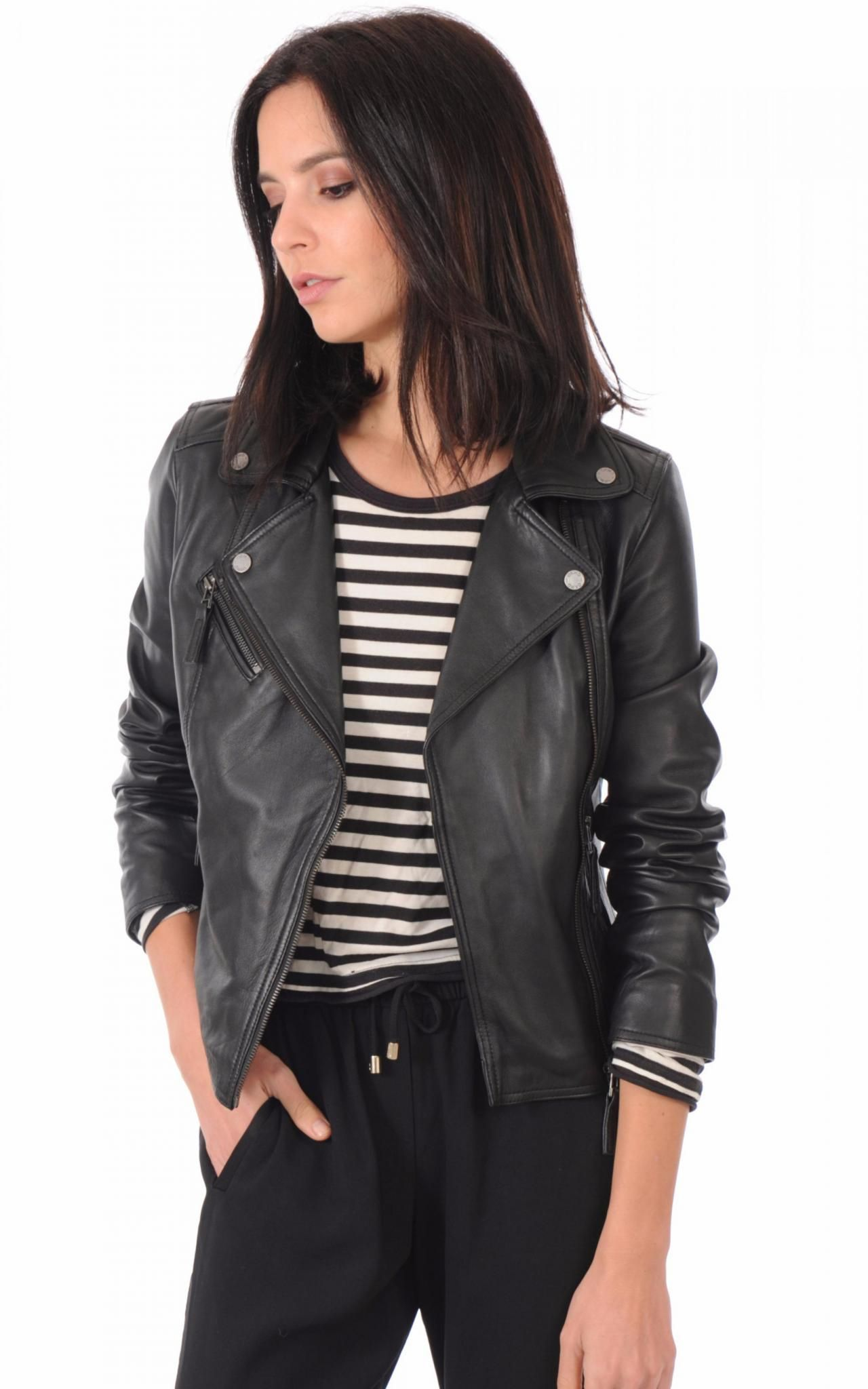 0d2f5d974 Women's Leather Jacket Handmade Motorcycle Solid Lambskin Leather ...