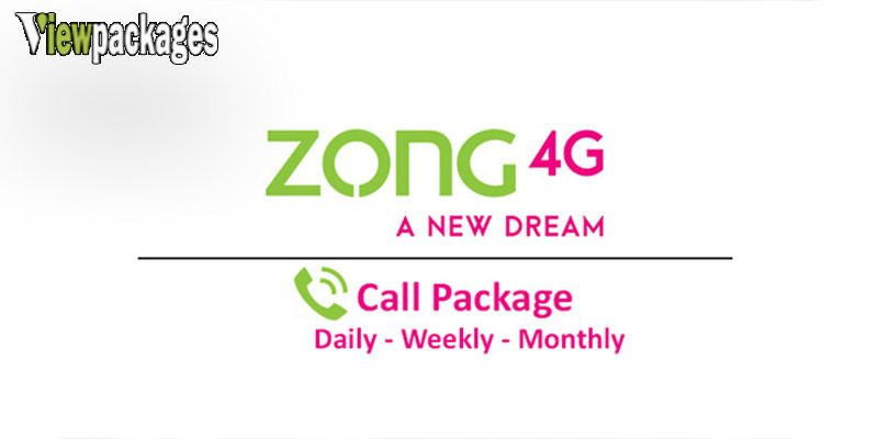 Zong Calls Packages Data Network Internet Speed Packaging