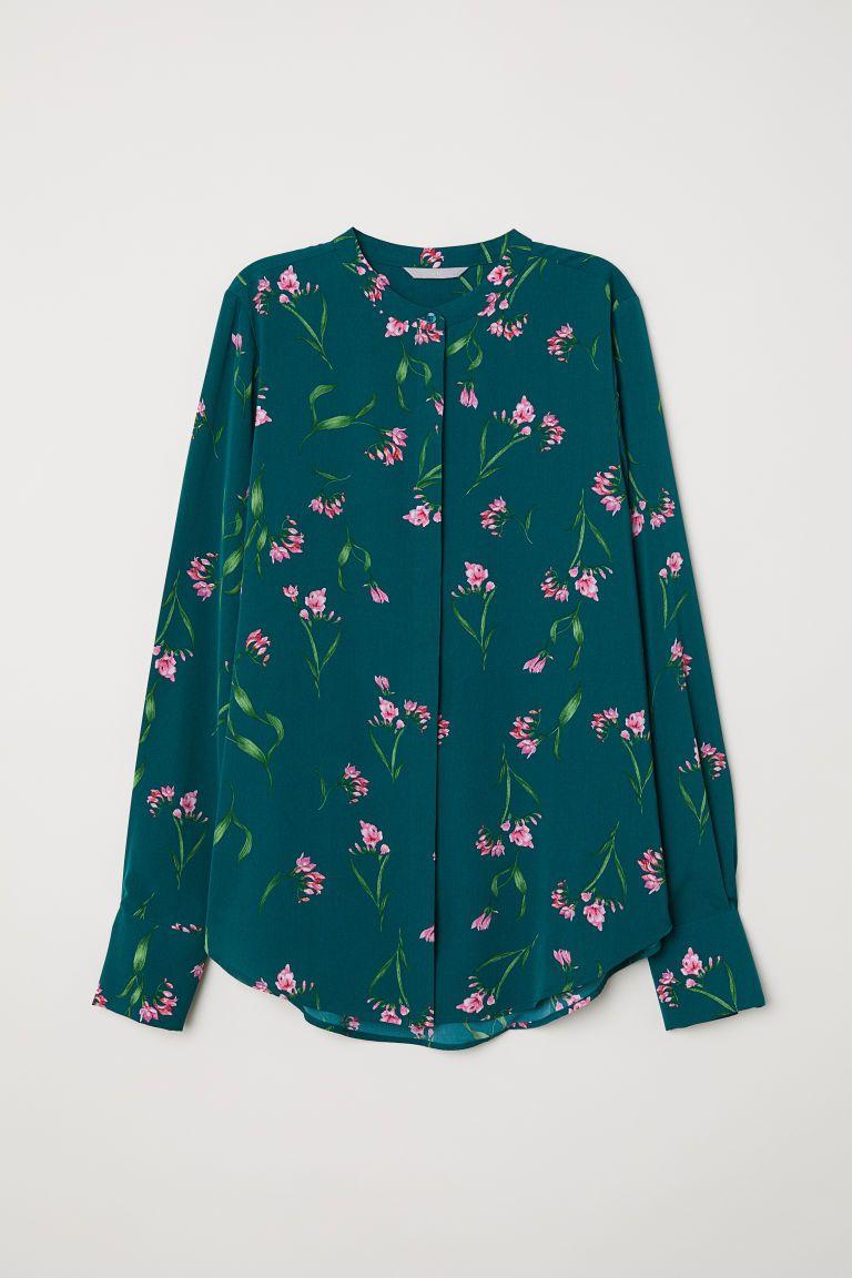 groen overhemd dames