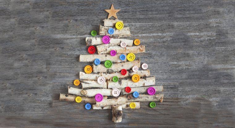 Lavoretti Di Natale Con I Bottoni.Lavoretti Creativi Per Bambini Albero Di Natale Con Rametti