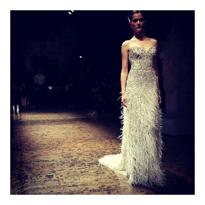Lazaro Fall 2014 Wedding Dresses: Instagram Photos From Bridal Fashion Week Fall 2014 (With
