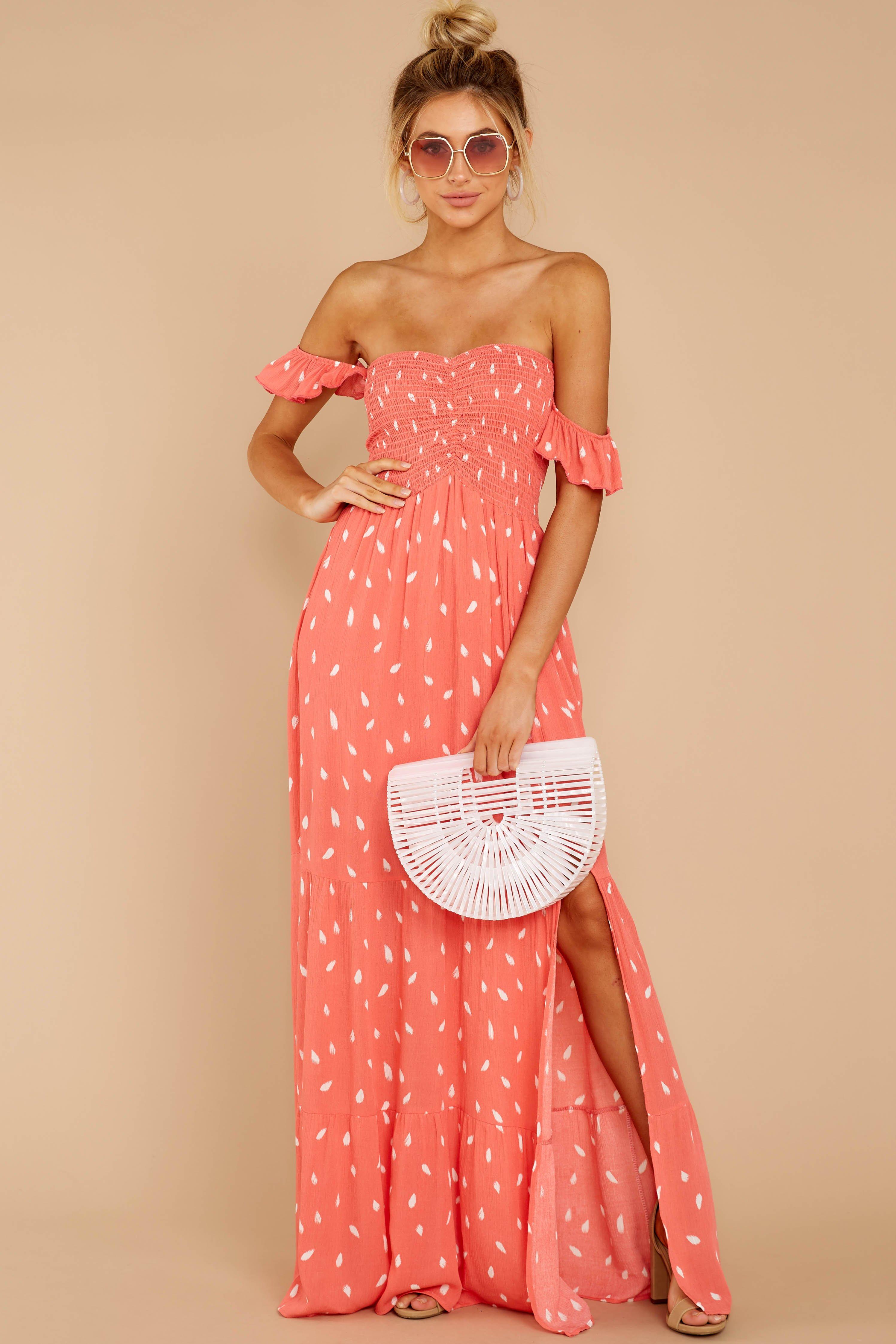 Flirty Coral Pink Print Maxi Flowy Smocked Maxi Dress Dress 54 Red Dress Coral Maxi Dresses Printed Maxi Dress Maxi Dress Websites [ 4491 x 2994 Pixel ]