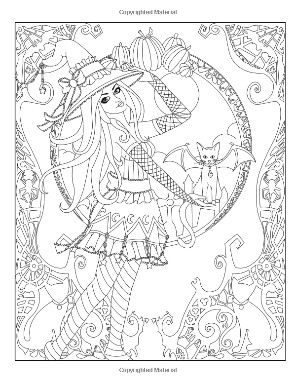 Spellbinding Images A Fantasy Coloring Book Of Witches Volume 1