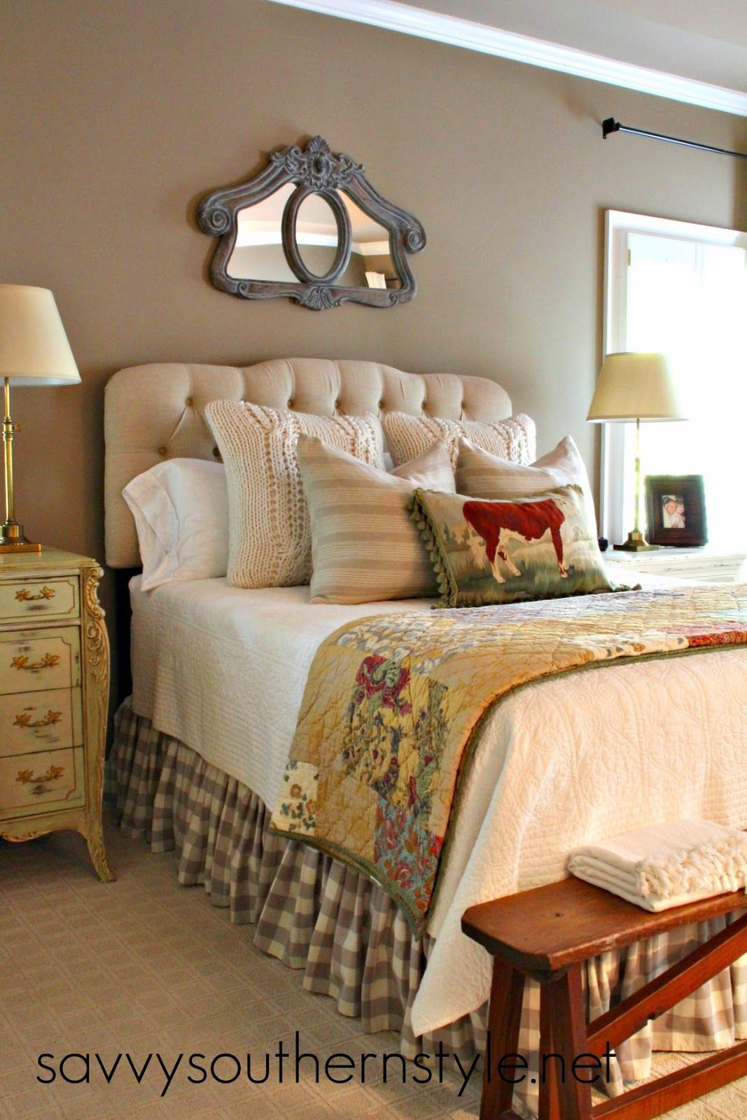 Savvy southern style my bed at the moment bedrooms pinterest