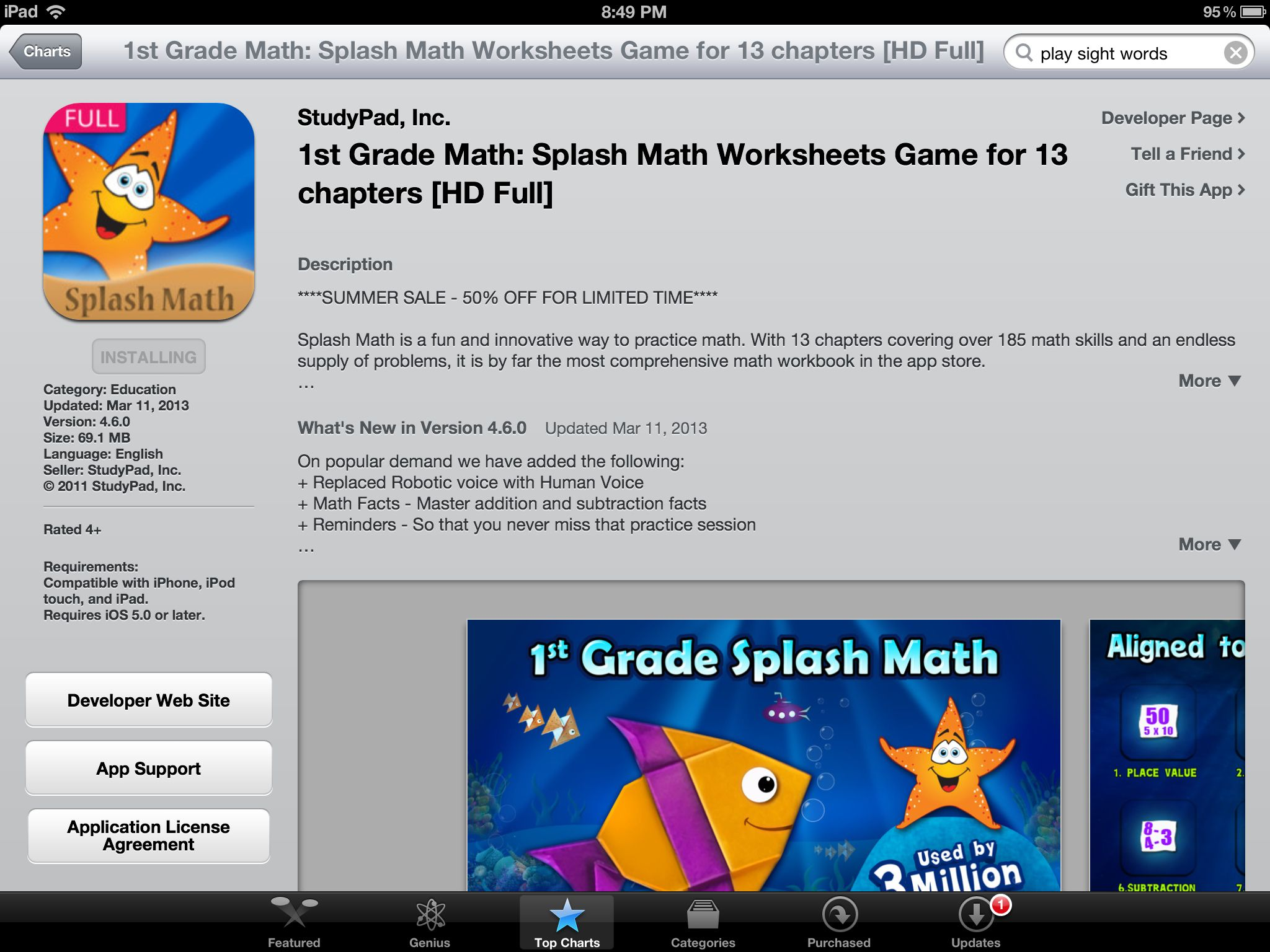 Super App For 1st Graders If You Have An Ipad In The Classroom It S Usually 10 Bucks Educational Apps Fun Math Summer Math [ 1536 x 2048 Pixel ]