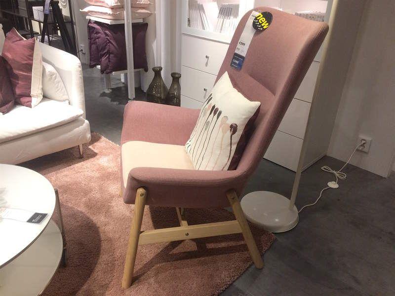 ikea les nouveaut s 2018 fauteuil rose ikea et les. Black Bedroom Furniture Sets. Home Design Ideas