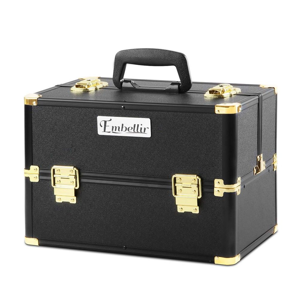Cosmetic Makeup Carry Case Professional Portable Travel Beauty Box W