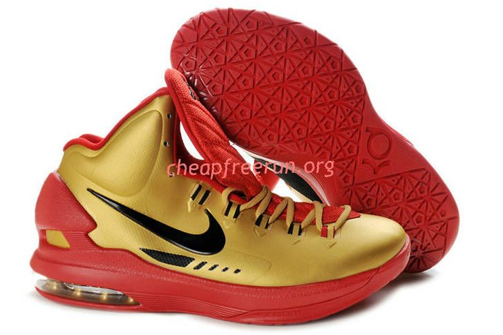best service d8e07 b4990 New Nike Zoom KD V Kevin Durant 5 Shoes For Sale University Red Gold 554988  116