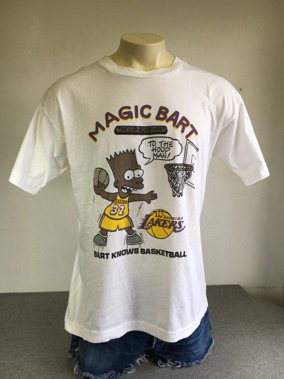 3e60d1c184c36 BLACK BART BOOTLEG Shirt 90s Vintage/ The Simpsons Magic Bart Magic ...