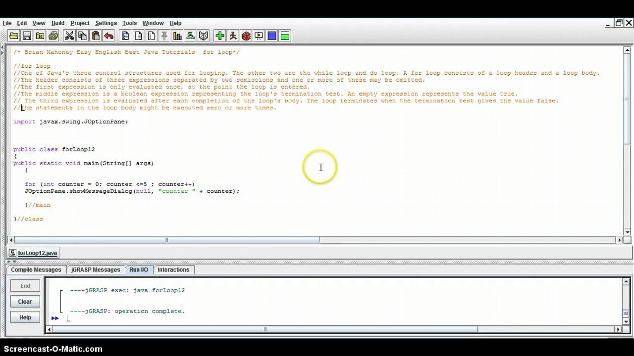 Easy English Best Way To Learn Java For Loop Java Tutorial 12 Java Tutorial Java Programming Tutorial