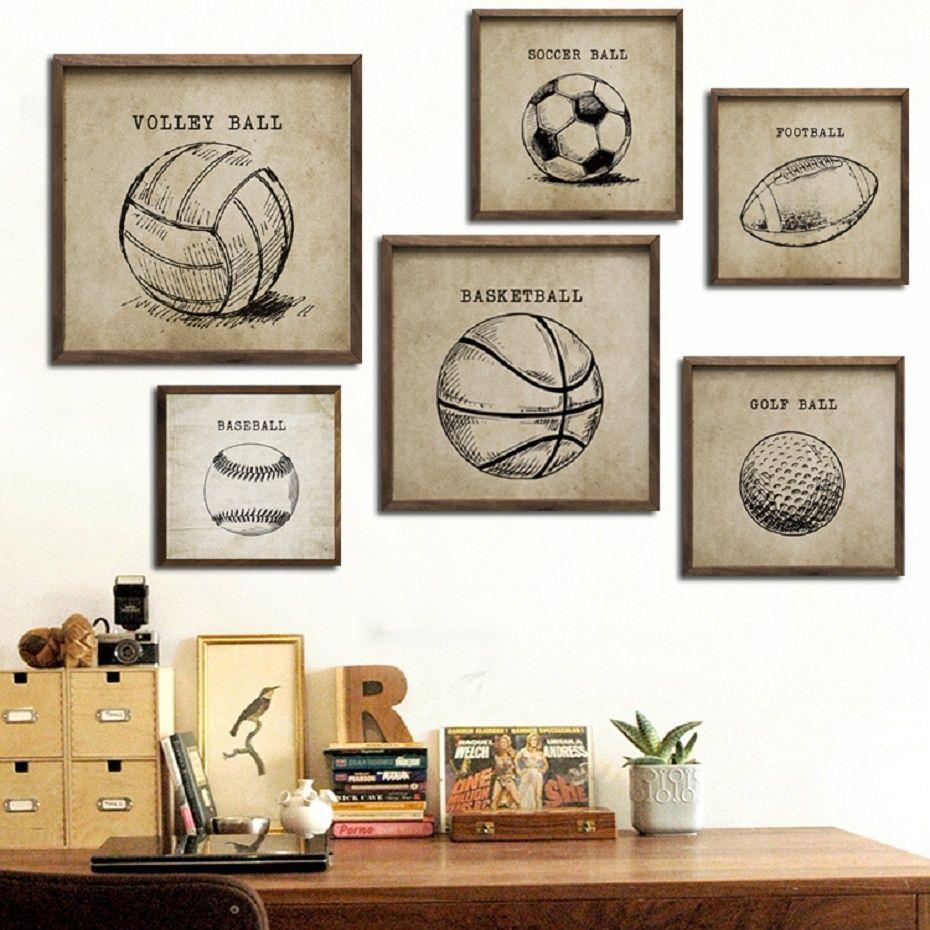 Soccer Home Decor Soccer Ball Poster Art Print