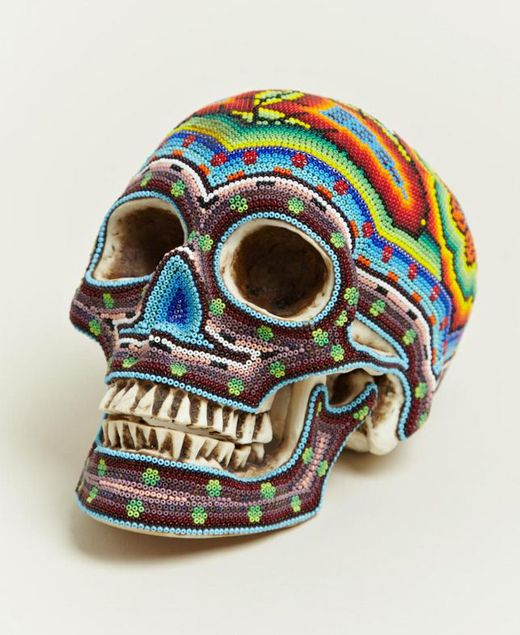 Colorful Beaded Skulls by Our Exquisite Corpse