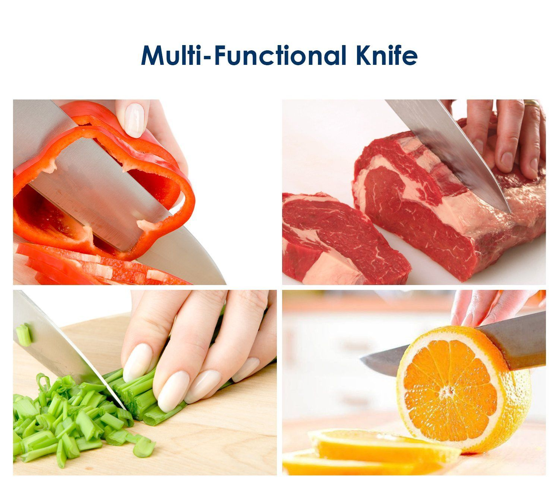 Aicok Couteau aicok couteau de chef - couteau de cuisine inoxydable rasoir 20