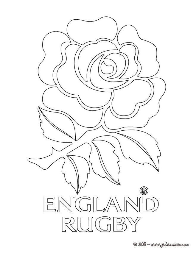 Coloriage blason de l 39 angleterre au rugby peinture sur - Coloriage angleterre ...