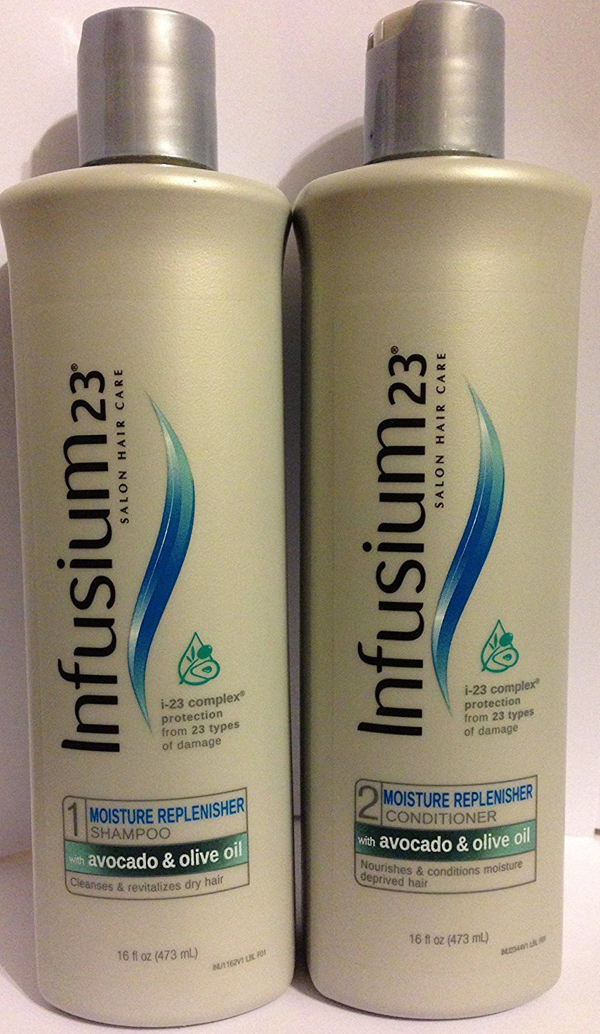 Infusium 23 Salon Hair Care - Moisture Replenisher - Shampoo and Conditioner Set - Net Wt. 16 FL OZ (473 mL) Per Bottle - One Set ** Want to know more, click on the image.