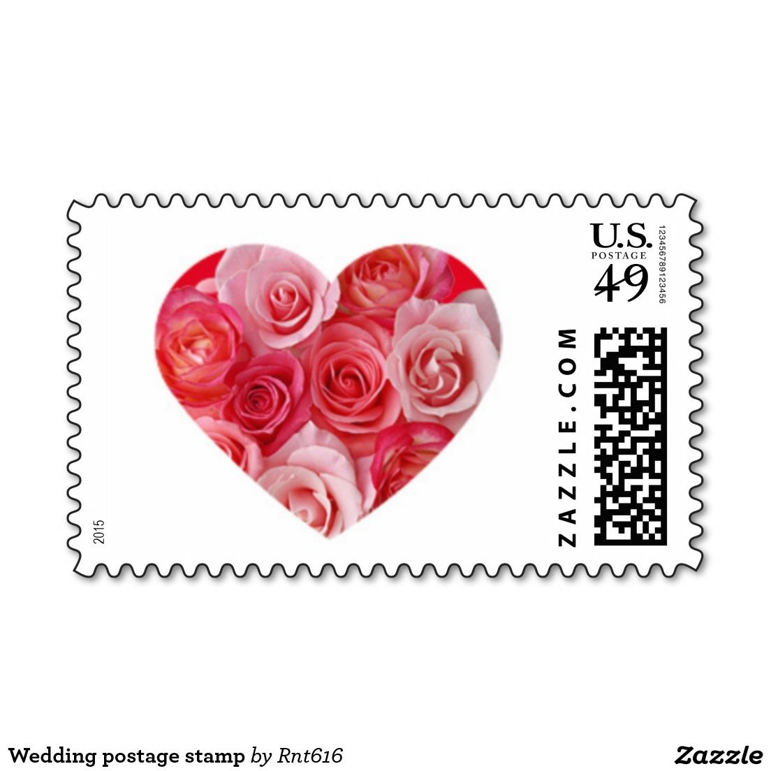 Heart-shaped Love Wedding postage stamp | Love Stamps - Custom ...