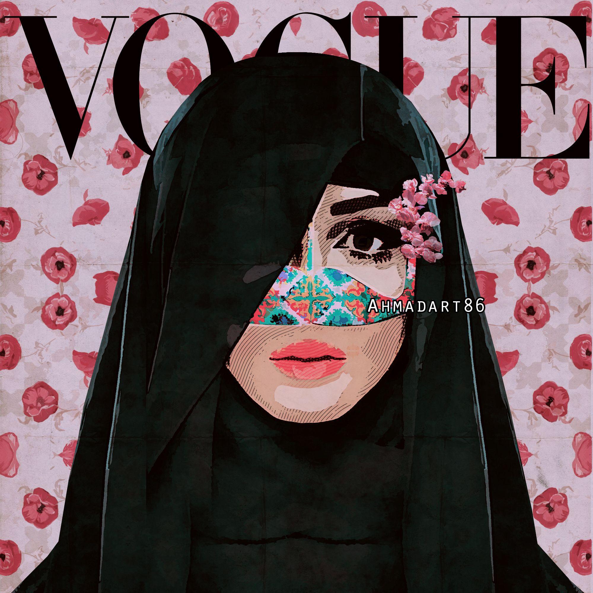 Vogue برقع Modern Pop Art Art Pop Art Women