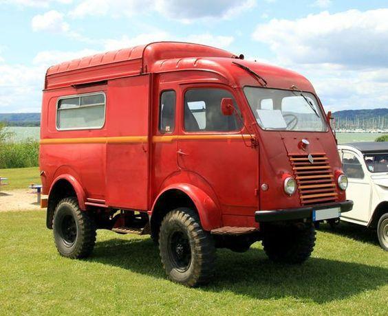 1961 Renault Goelette R2087 4x4 Renault Futuristic Cars Cool Vans