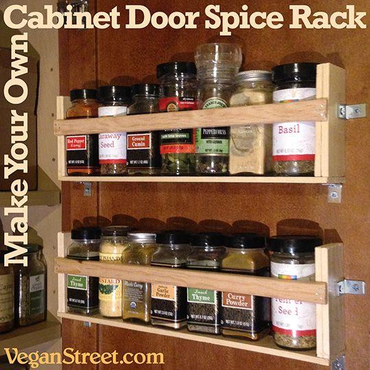 Home Eco Cabinet Door Spice Rack Door Spice Rack Spice Rack Diy Cupboard Doors