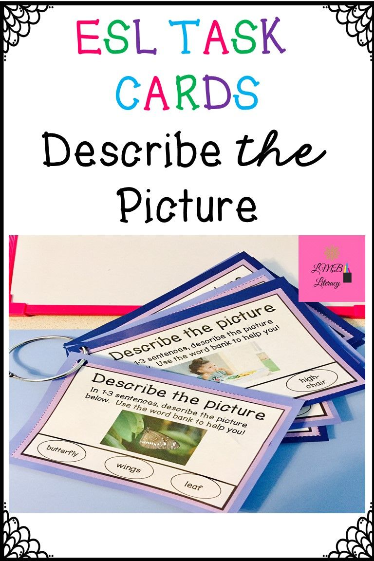 ESL Task Cards-Vocabulary Development-Real Images and Word Bank | Clever Classroom | Pinterest ...