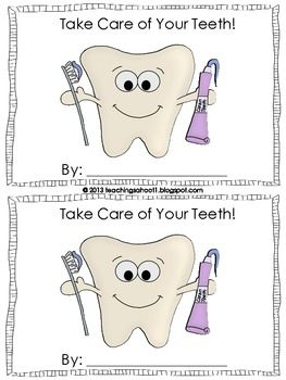 dental health mini-book