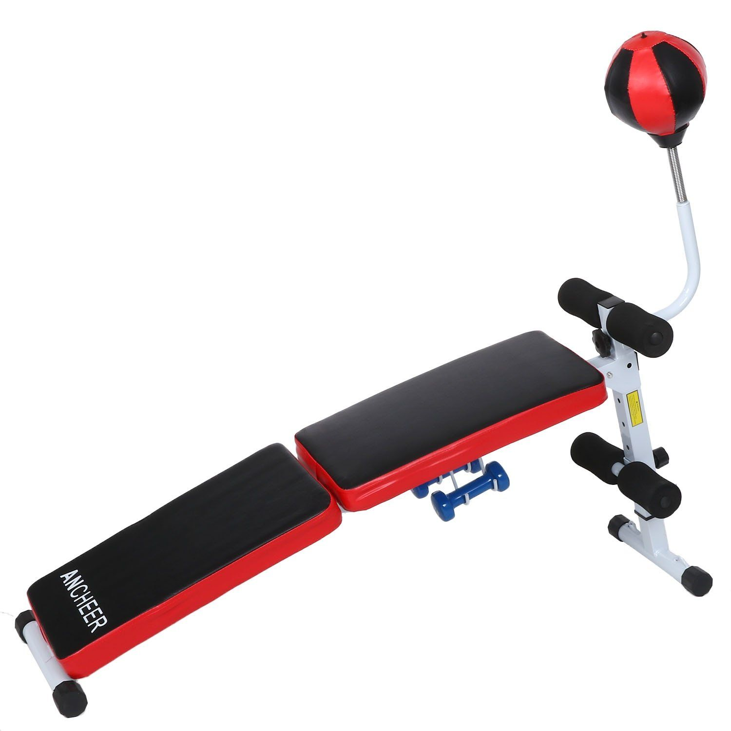 fanala fully adjustable folding gym weight bench fitness dumbbell w
