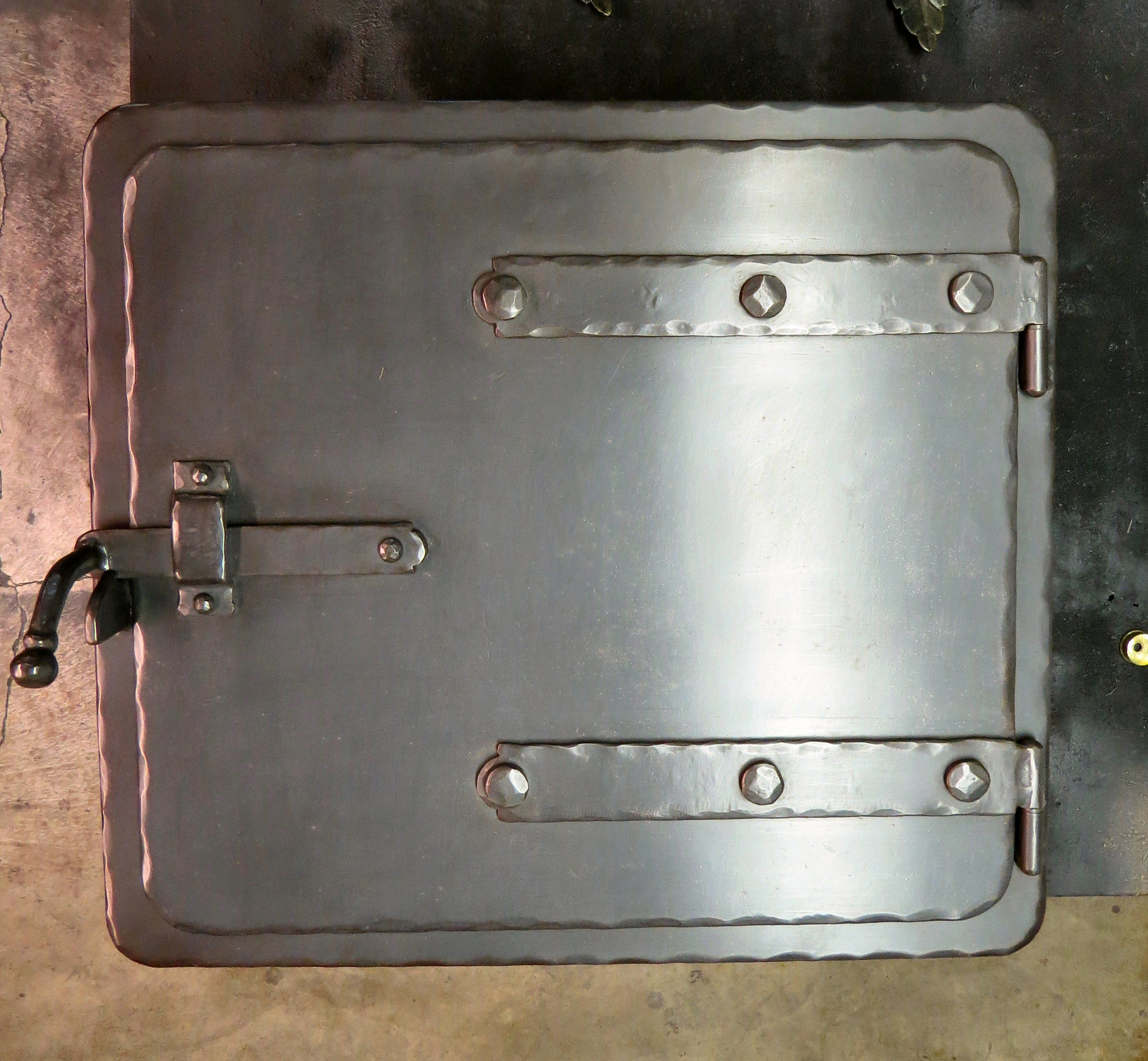 MD 210 SH SQUARE STRAP HINGED PIZZA OVEN DOOR 306 Colonial Straps