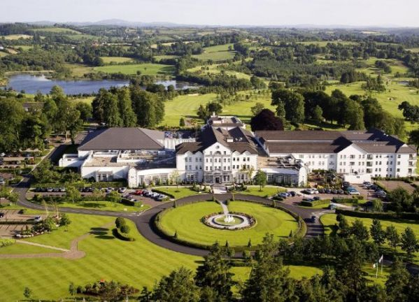 Aerial View Of The Beautiful Slieve Rus Hotel Ballyconnell County Cavan