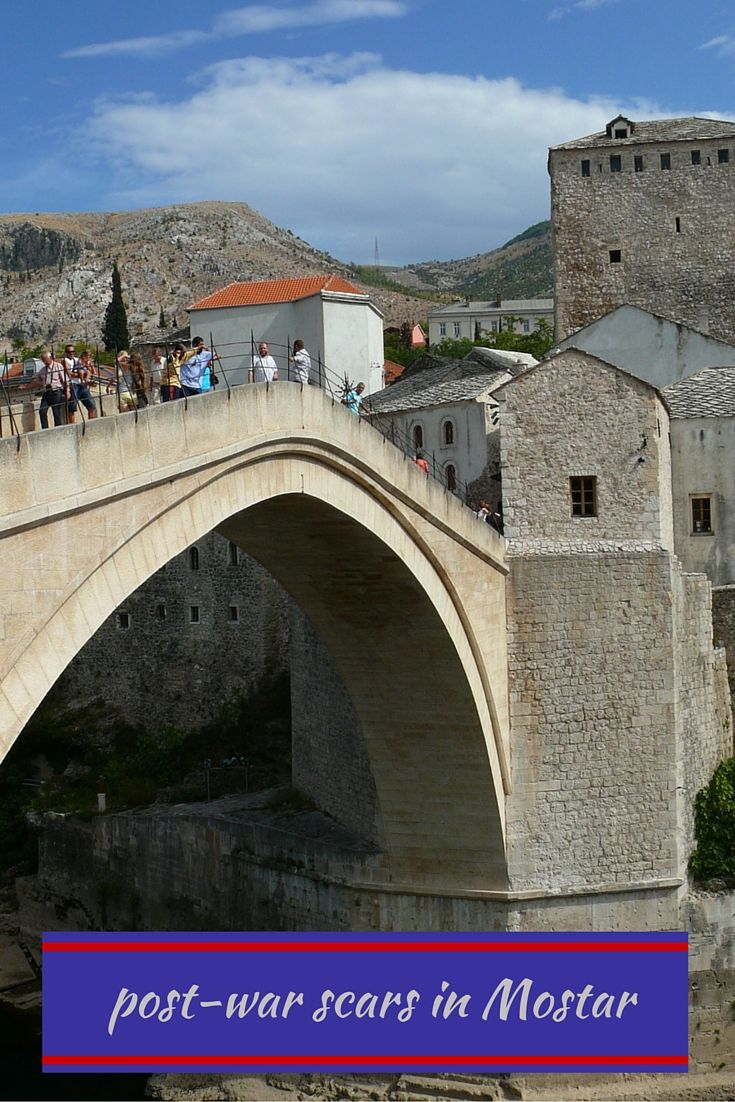 Remnants of the Mostar war