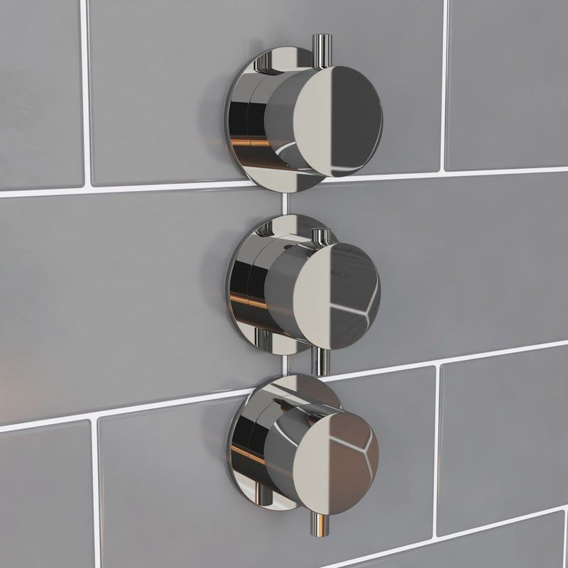 Mode Hardy Round Triple Thermostatic Shower Valve With Diverter