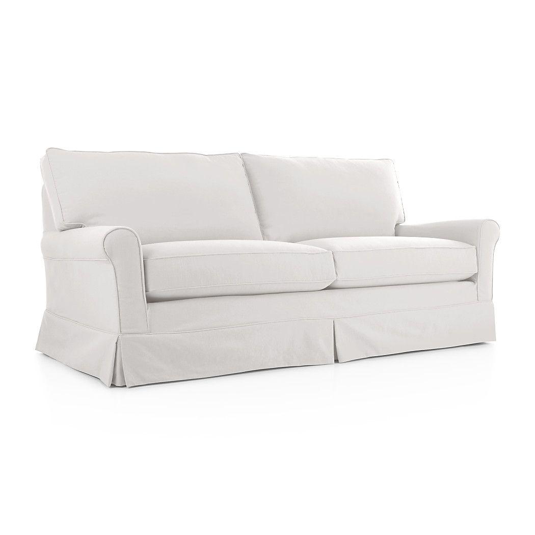 Groovy Shop Harborside Slipcovered Apartment Sofa Generous Seats Customarchery Wood Chair Design Ideas Customarcherynet