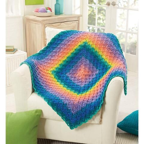 Prismatic Throw Crochet Pattern-Luminous shades of Willow Wash ...