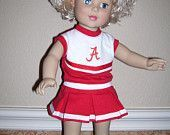18 inch Doll Clothes- Alabama Cheerleading Outfit #18inchcheerleaderclothes 18 inch Doll Clothes- Alabama Cheerleading Outfit. $15.00, via Etsy. #18inchcheerleaderclothes
