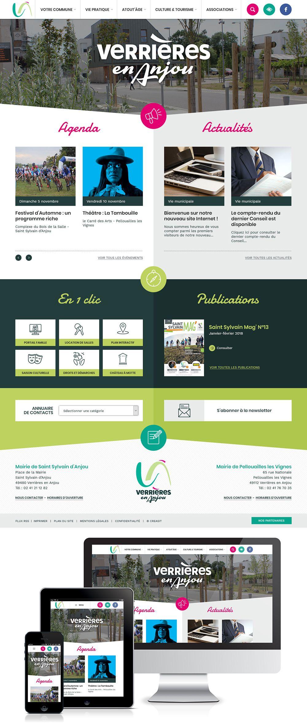 Createur De Site Internet création du site web de la commune nouvelle de verrières en
