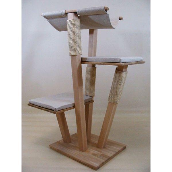 arbre a chat design en bois