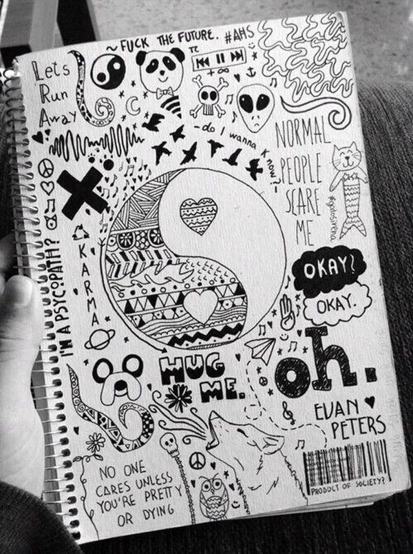 006 45 Creative Doodle Art Tutorials and Examples Tumblr