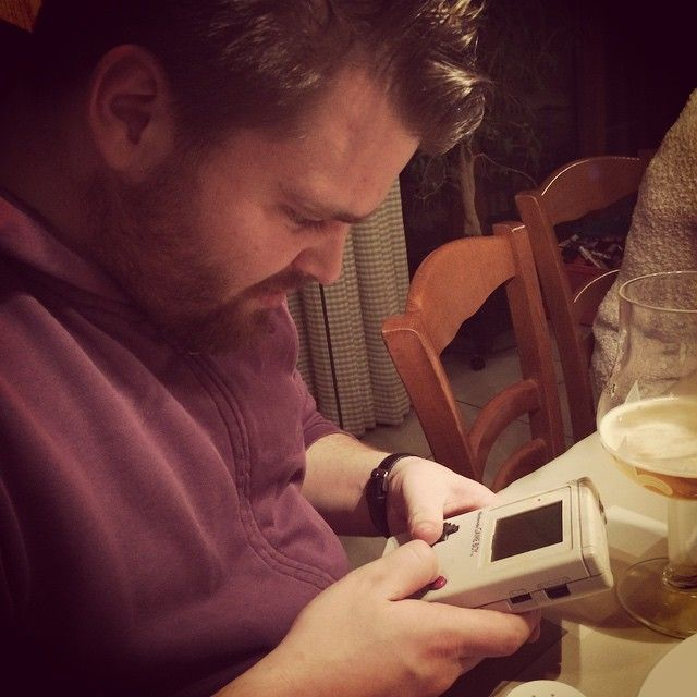 nikos_larson Old school ❤️ #gameboy #mario