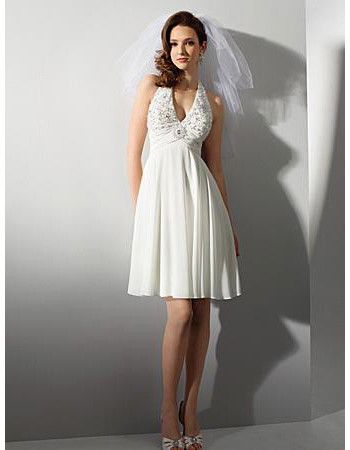 10 Best images about Short Wedding Dresses on Pinterest - Knee ...