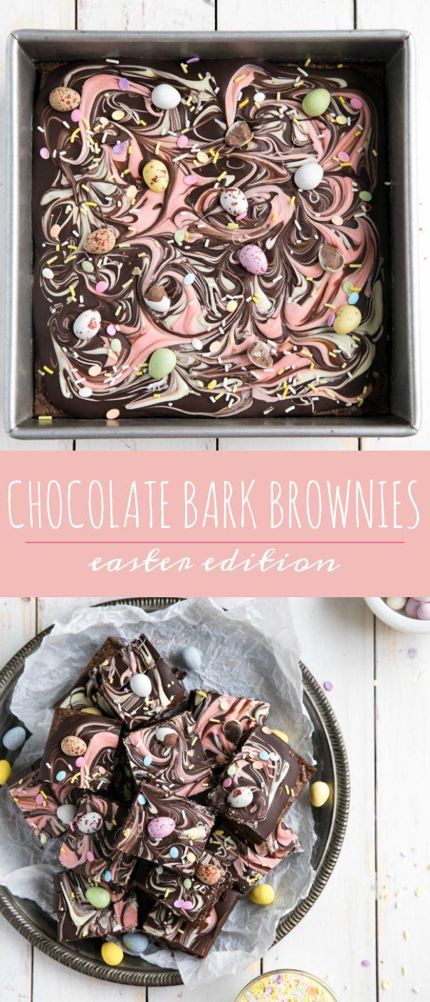 Photo of Chocolate Bark Easter Brownies