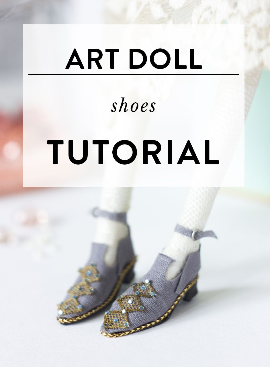 Miniature art doll shoes tutorial | Dolls Houses and