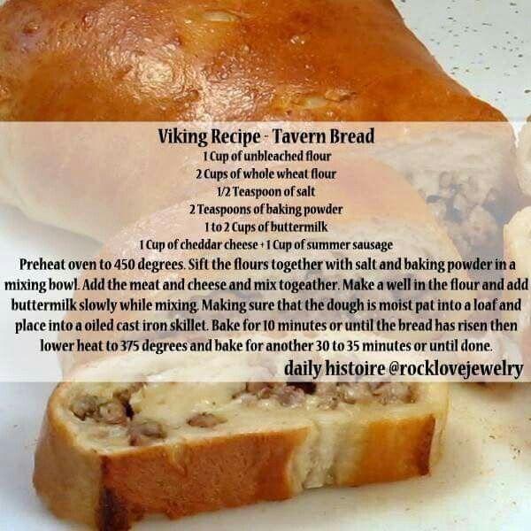 Viking Recipe Taverne Bread Viking Food Recipes Food