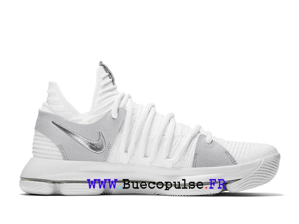 premium selection d326d c080e Nike KD 10 All-Star 897815 100 Chaussure de basketball pour Homme Argent  blanc-Nike