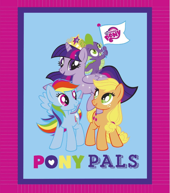 My Little Pony Pals 48'' No Sew Fleece Throw