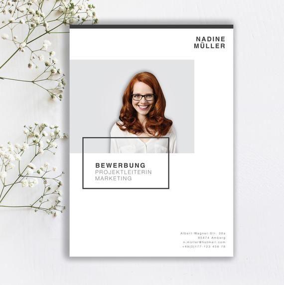Bewerbungsvorlage Minimal Style in der Farbe Light Rose / German CV Template